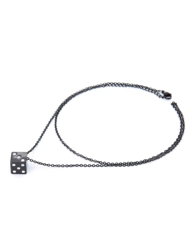 Personalized style with Gun Color plated Titanium necklace