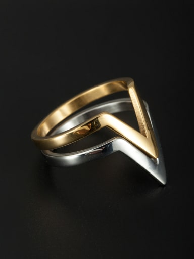 Model No A000190R-002 The new Stainless steel  Ring with Multicolor 6-9#