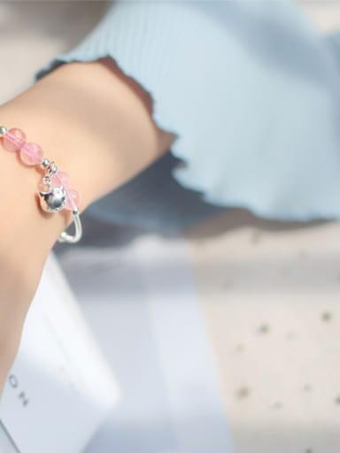 S925 Silver Natural Powder Crystal Bracelet