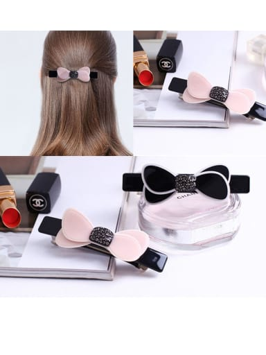 Alloy With Cellulose Acetate  Fashion Bowknot Barrettes & Clips