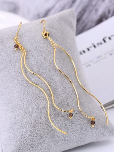 Exquisite Geometric Shaped Natural Stone Line Earrings