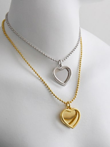 925 Sterling Silver With Smooth Simplistic Heart Locket Necklace