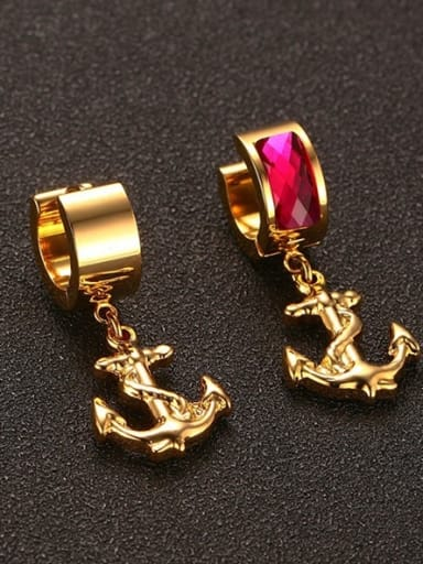 Exquisite Pink Gold Plated Rhinestones Drop Earrings