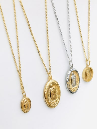 Stainless Steel Fashion Coin Portrait  Necklaces