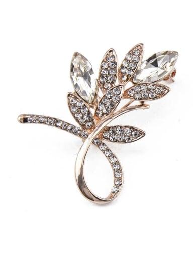 2018 Flower Crystals Brooch