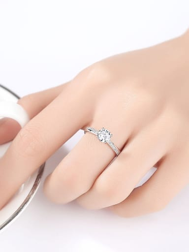 Sterling Silver with eight hearts eight arrows four claws zircon rings
