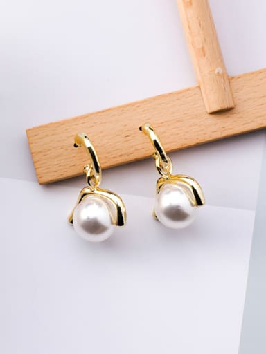 Alloy With  Imitation Pearl Trendy Stud Earrings