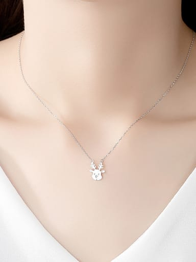925 Sterling Silver With Smooth Personality Dog Necklaces
