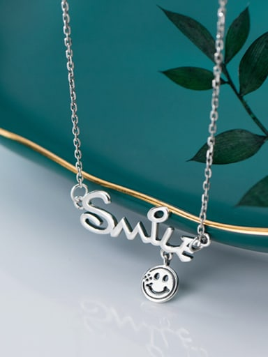 925 Sterling Silver With Platinum Plated Personality Monogrammed Necklaces
