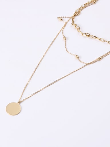 Titanium With Gold Plated Simplistic Round Multi Strand Necklaces