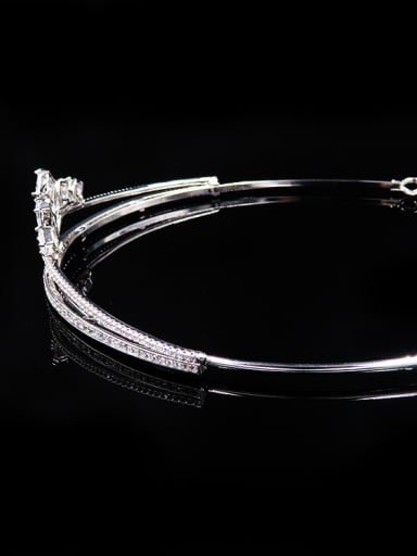 Simple Style Noble Zircons Wedding Hair Accessories