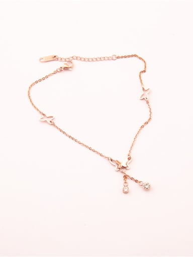 Rose Gold Plated Fashion Anklet