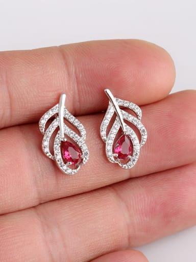 Rose Leaves AAA Zircon Elegant Temperament stud Earring