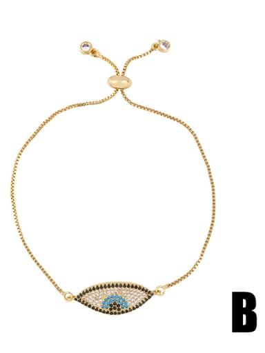 Copper With Cubic Zirconia Fashion Evil Eye Bracelets