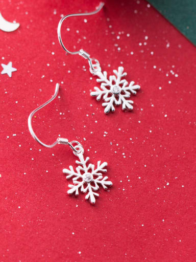 925 Sterling Silver With  Cute Christmas gift Stud Earrings