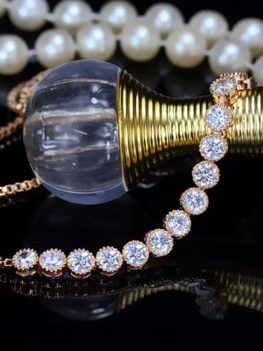 Rose Gold Plated AAA Zircon Bracelet