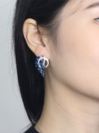 Lovely Leaves-shape Stud Cluster earring