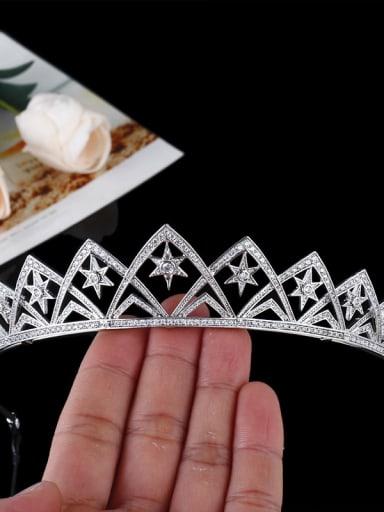 Simple Exquisite Wedding Micro Pave Zircons Hair Accessories