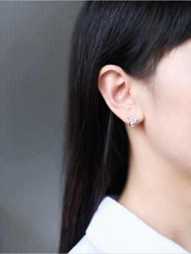 S925 silver small fresh cherry stud cuff earring