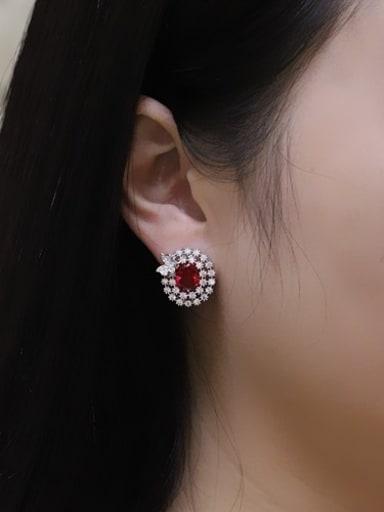 Exquisite AAA Zircons Stud Cluster earring