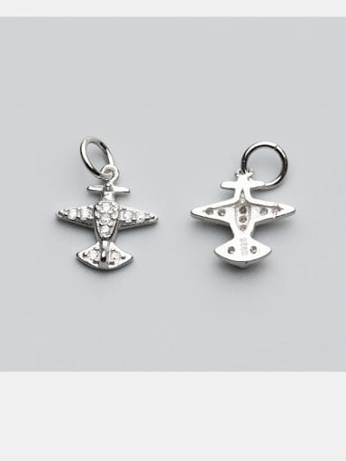 925 Sterling Silver With Silver Plated Plane Charms