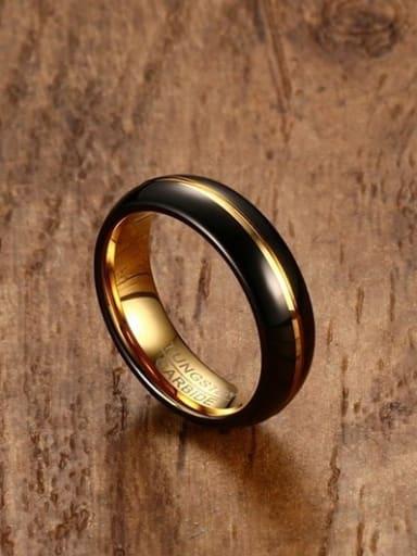Delicate Double Color Design Geometric Titanium Ring