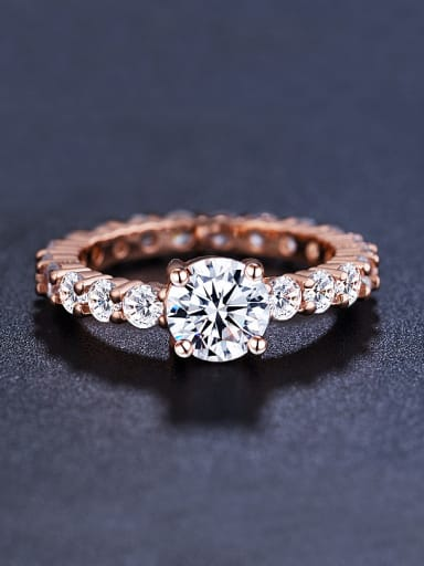Rose Gold Plated Cubic Zircon Ring
