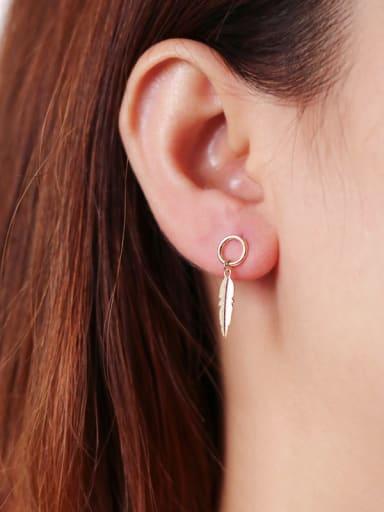 925 Sterling Silver   Classic Leaf Drop Earrings