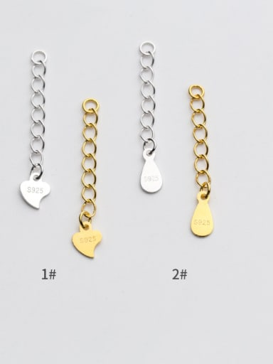 925 Sterling Silver With 18k Gold Plated Classic Water Drop Heart Extension chain