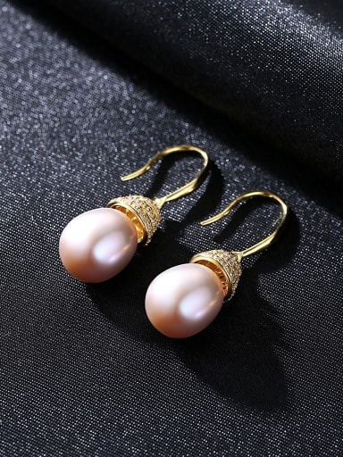 Sterling silver natural pearl earrings