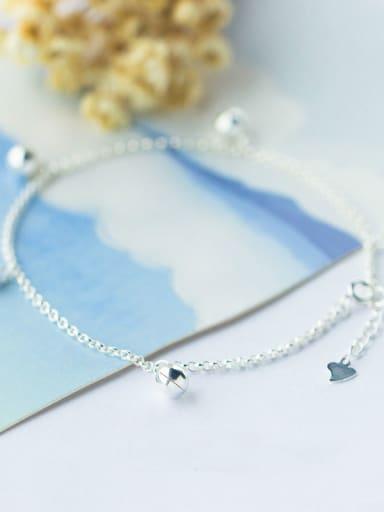 S925 Silver Little Bells Fashion Anklet