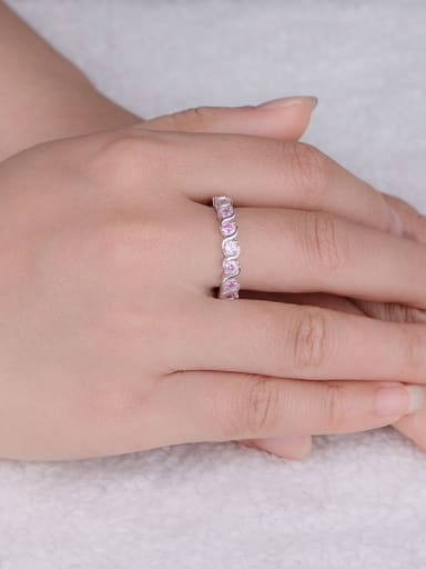 Pink Zircon Multistone ring