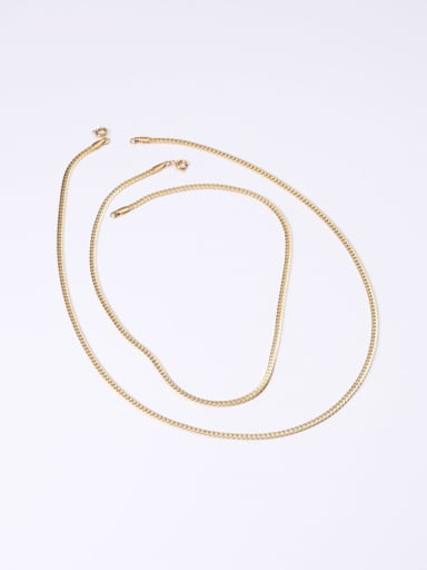 Titanium With Gold Plated Simplistic Short Snake Chain