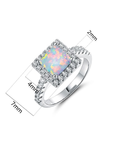 Square Shaped Engagement Ring
