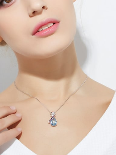 2018 S925 Silver Flower-shaped Necklace