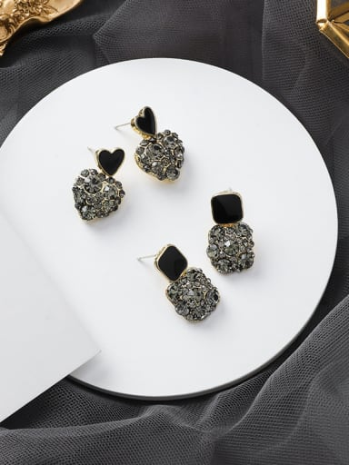 Alloy With Champagne Gold Plated Cute Geometric Stud Earrings