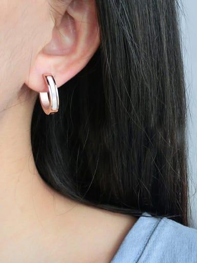 Titanium Elegant Fashion Shell hoop earring