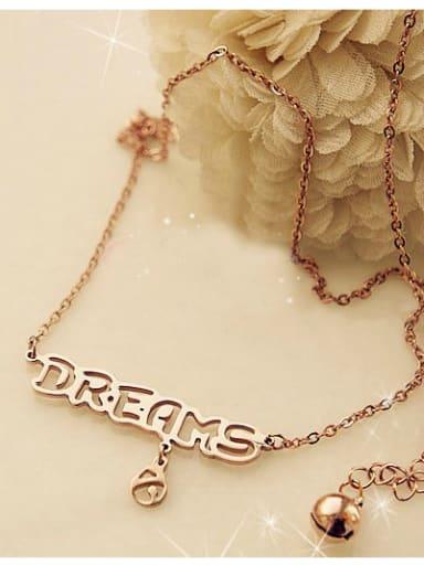DREAMS Letter Pattern Titanium Necklace