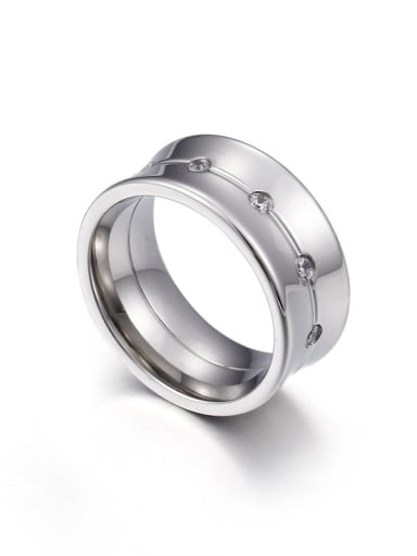 Stainless Steel With Gold Plated Trendy Band Rings