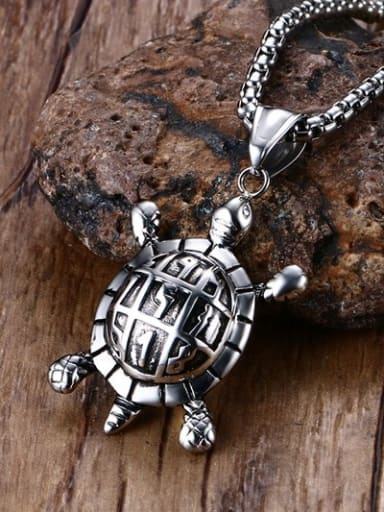 Creative Turtle Shaped Stainless Steel Pendant