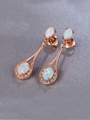 Rose Gold Plated drop earring