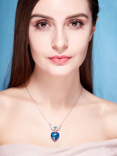 Heart Shaped Swarovski Crystal Necklace