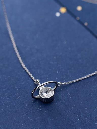 925 Sterling Silver With Silver Plated Personality Heavenly body&Hollow stars Necklaces