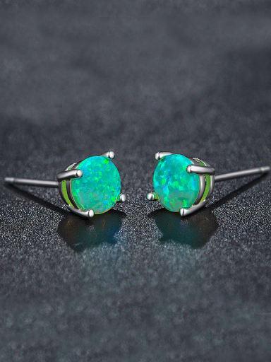 2018 Green Opal Stone stud Earring