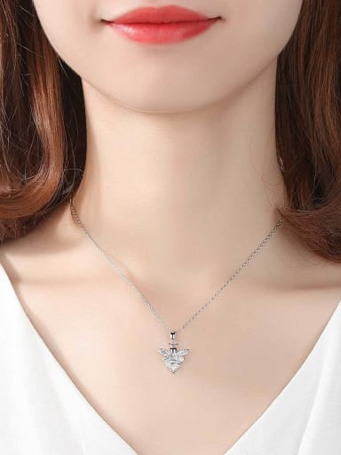 Copper With  Cubic Zirconia Trendy Insect  honeybee Necklaces