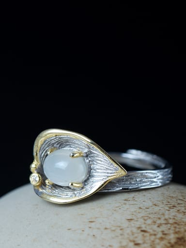Retro Palace Moonlight  Calla Opening Ring