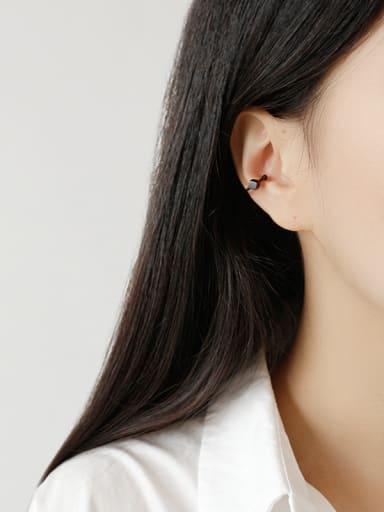 Sterling silver geometry simple Earless ear clip