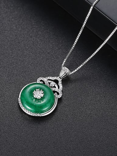 Copper With Platinum Plated Simplistic Geometric Necklaces