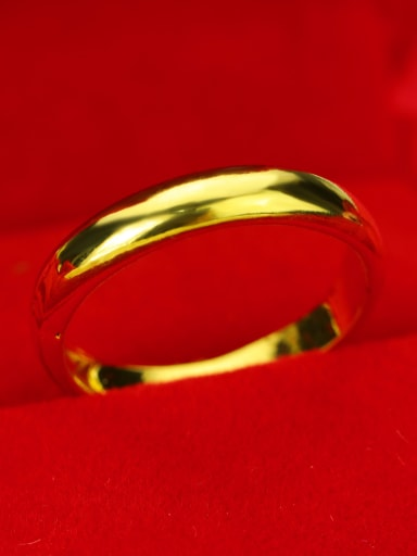 Copper With 18k Gold Plated Fashion Round free size Rings