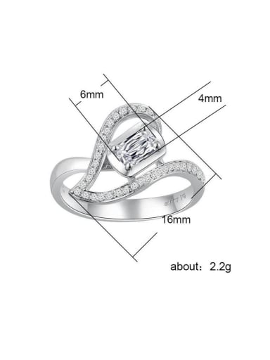 Copper WithCubic Zirconia  Delicate Heart Engagement Rings